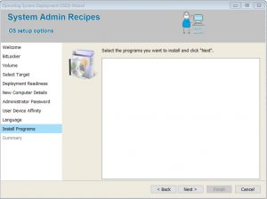 Including optional applications into the UDI Wizard – Step