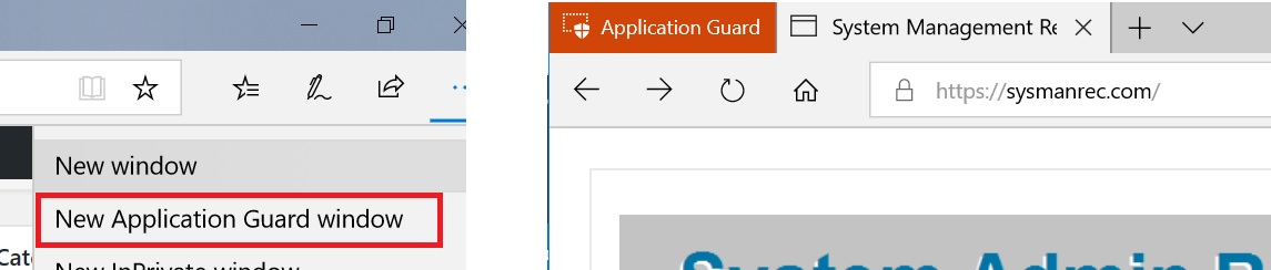 Solutions to activate and configure Application Guard with