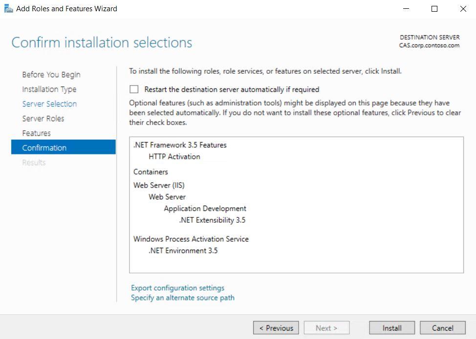 Installing  NET Framework 3 5 on Server 2019 fails - System